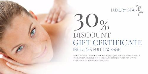 spa gift certificates templates