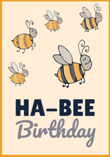 18th Birthday Card Bees Cover