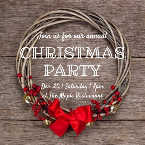 christmas party invitations and templates by design wizard