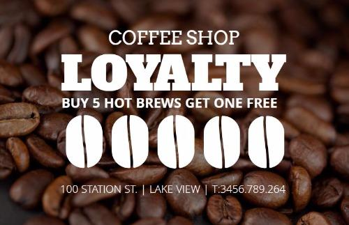 Loyalty Cards And Loyalty Card Program Design By Design Wizard - Loyalty stamp card template
