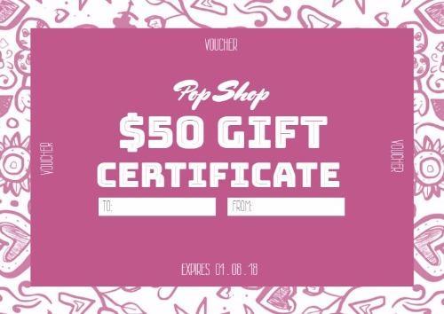 create a gift certificate