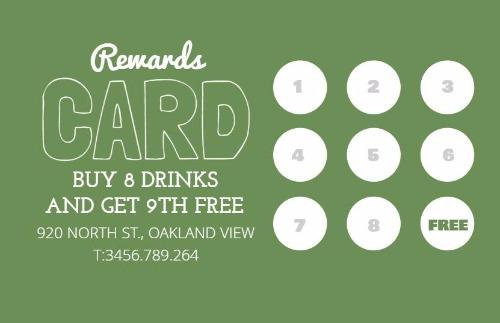 Loyalty Cards And Loyalty Card Program Design By Design Wizard - Loyalty punch card template