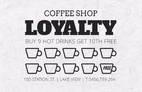 Loyalty Cards And Loyalty Card Program Design By Design Wizard - Loyalty card template