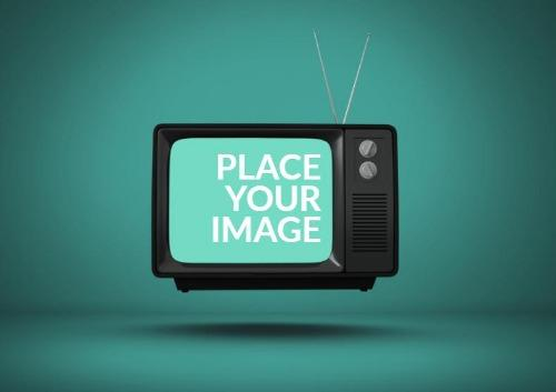 Television with Green Background