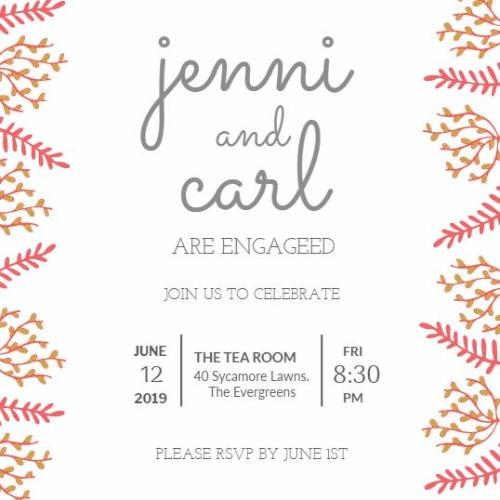 Engagement Announcements And Party Invitation Templates