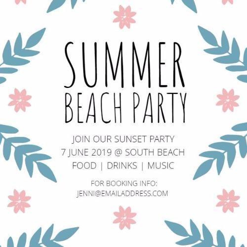 easily create playful and bright summer party invitations