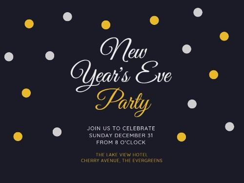 New Years Eve Day Create Perfect Invitations With Design Wizard