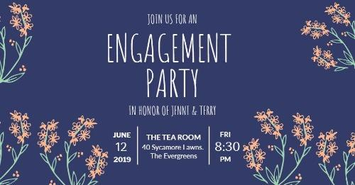 Engagement announcements and party invitation templates engagement invitation stopboris Choice Image