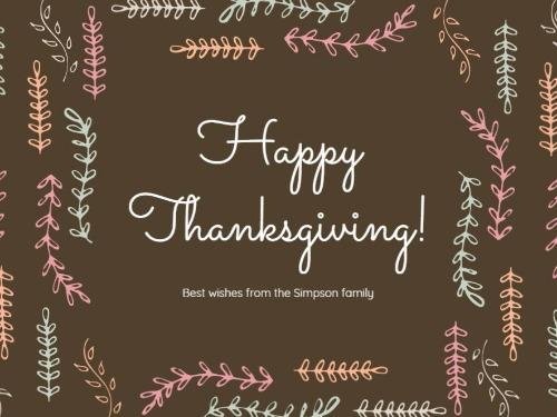 thanksgiving cards are easy to create with design wizard