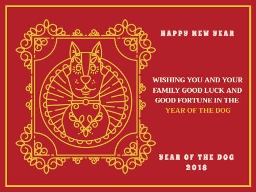 Chinese new year card create your own personalized greeting card chinese new year post m4hsunfo