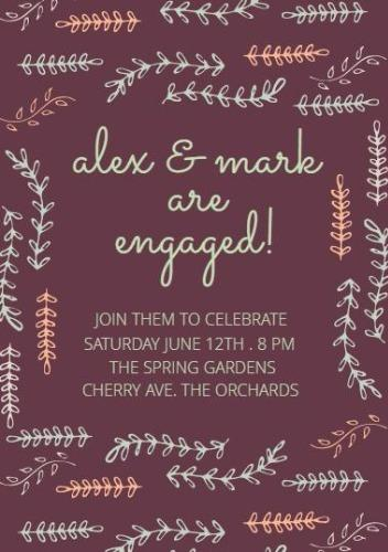 Engagement announcements and party invitation templates engagement invitation a5 portrait stopboris Image collections