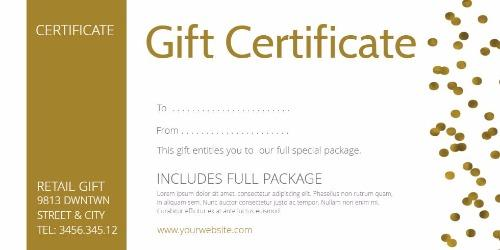 professional gift certificate template