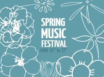 Blue Banner for Spring music festival
