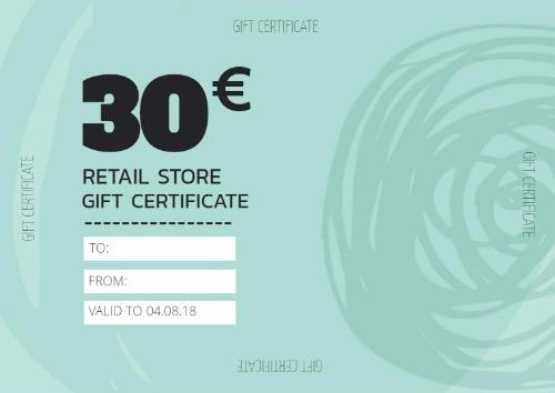 Create Personalized Gift Certificate And Vouchers With Design Wizard - Store gift certificate template