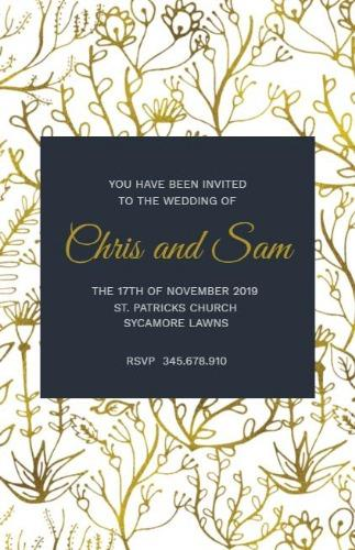 Wedding invitations creation made easy with design wizard card maker edit for free solutioingenieria Gallery