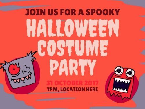 halloween invite social monsters
