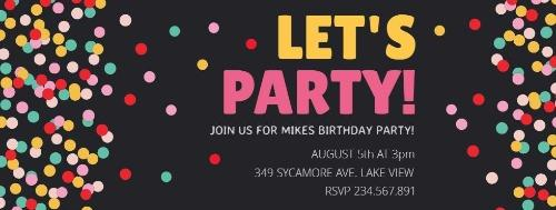 Birthday party invitations at design wizard create for free edit for free stopboris Choice Image