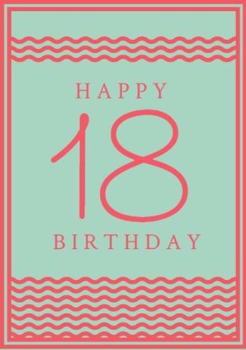 18th Birthday Card Pink Frame