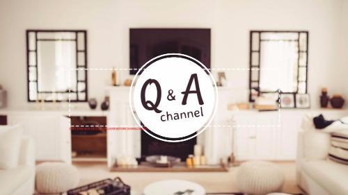 Q & A Youtube Banner Art & Channel Idea